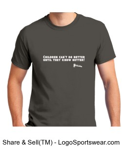 CHILDREN CAN'T DO BETTER UNTIL THEY KNOW BETTER. JUDGE AUNTIE Design Zoom